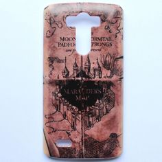 Phone Hard Back Case Cover For LG G3 Harry Potter Marauders Map Hogwarts Pattern