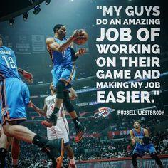 "4bab1f0fa2a Oklahoma City Thunder on Instagram: ""Triple-doubles are team  accomplishments. #ThunderBasketball"""