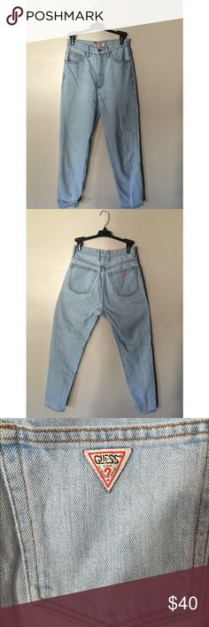 4d76b863972 Vintage High-Waisted Guess Jeans Vintage light high-waisted Guess Jeans.  Super cute on. Ask to see a picture with them on. Fits a size 2 3. Good  condition.