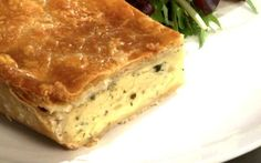 Cheese and Onion Pie Recipe by Andy Bates (veg hot water crust pastry)