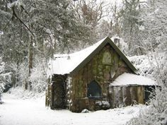 Woodland cottage, Blaise Castle by George Evans.