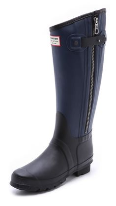 Two-tone rain boots from the Rag & Bone X Hunter Boots collaboration. www.topshelfclothes.com