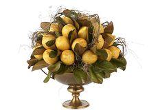 Lemons in Brass Urn on OneKingsLane.com
