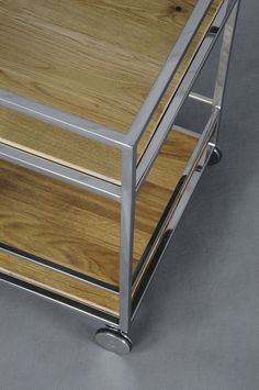 Pure bar#trolley#interiordesign#home#steel#wheel#modern#kitchen#wood#oak#Lestrocasa