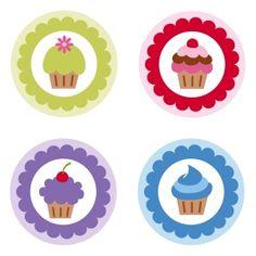 Cupcake Tags Zip Folder, SVG Cut File, Silhouette studio files, Shery K Designs.