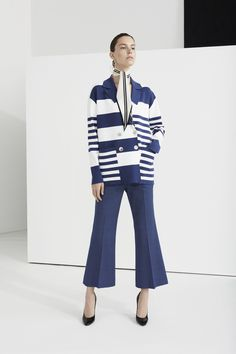 The complete Piazza Sempione Resort 2018 fashion show now on Vogue Runway. Smart Casual Outfit, Casual Outfits, Sailor Fashion, Mode Chic, Nautical Fashion, Colourful Outfits, Fashion Show Collection, Grunge Fashion, Vanity Fair