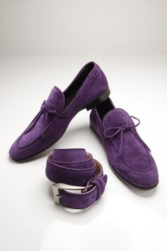 purple belt and shoes