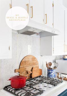 Brass and Marble Backsplash
