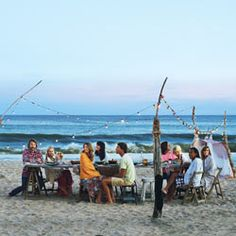 How to Throw a Summer Dinner Party at the Beach: BA Daily (List of a few good beaches allowing bonfires included)