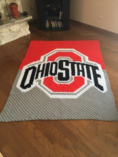 Ohio State C2C graphgan crochet pattern purchased from etsy