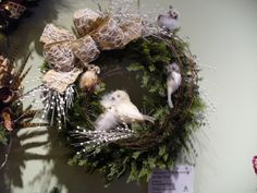 white owl wreath