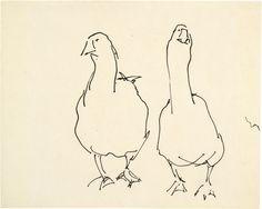 1917_Josef Albers_Due Oche_inchiostro su carta_25,7x32cm_Josef and Anni Albers Foundation