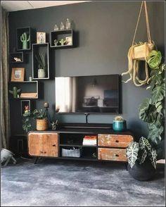 114 cozy small living room decor ideas for your apartment 31 Cozy Living Rooms, Home Living Room, Apartment Living, Living Room Designs, Living Room Decor, Bedroom Decor, Masculine Living Rooms, Wall Decor, Contemporary Home Decor