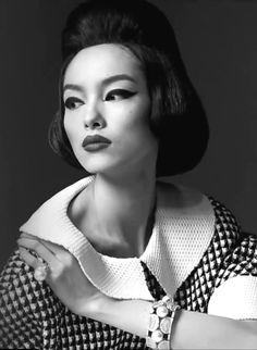 Fei Fei Sun photographed by Steven Meisel for Vogue Italia, January 2013