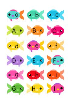 Fish & Fishbowls Upper and Lower Case Letter Match - Frogs and Fairies Preschool Learning Activities, Alphabet Activities, Preschool Activities, Kids Learning, Teaching Resources, Memory Strategies, Printable Alphabet Letters, Letter Matching, Learn A New Language