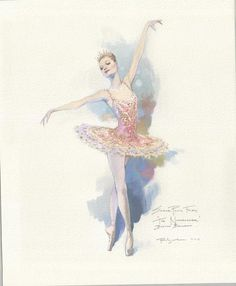 Sugar Plum Fairy Sketch by Robert Perdziola For Boston Ballet's Nutcracker with Mikko Nissinen's re-imagined sets and costumes.