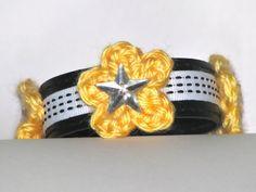 Child Bracelet Yellow White Black Easter Gift
