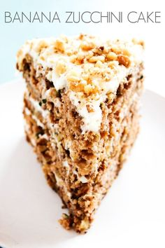 Banana Zucchini Cake with Cream Cheese Frosting and walnuts has become our family's favorite cake. Move over chocolate there is a new favorite cake in town and its the best way to eat your harvested zucchini. I love cake, if you didn't already know that. And since I have a plethora of zucchini thanks to my …