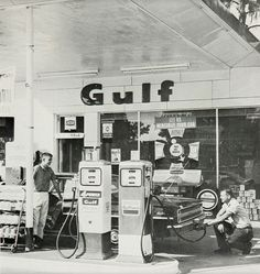 Gulf Station -- I remember when you went to a service station and actually got SERVICE!