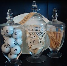 Store collections in apothecary jars.