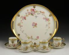 Haviland and Co. Limoges Luncheon Set The Estate of Mary L. Alchian of Palm Springs, CA   Kaminski Auctions 1/18/15