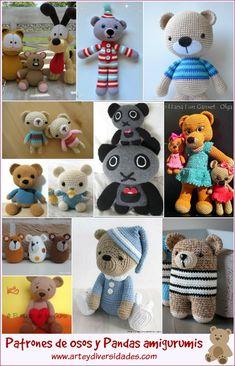 Diversidades: patrones gratis de crochet, amigurumi y manualidades: ACTUALIZACIÓN DE LOS PATRONES DE OSITOS Y PANDAS AMIGURUMIS