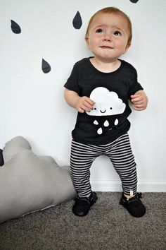 Image of Kids Kawaii Cloud Tee whistle and flute, cool kids clothes, trendy, modern kids style