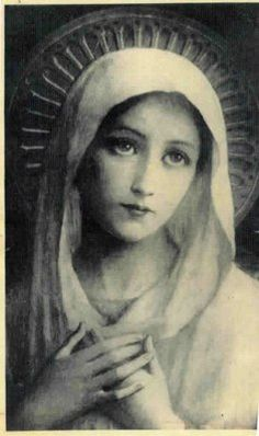 Beautiful picture of Mother Mary. Researching artist.
