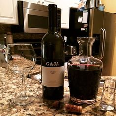 When u leave a bottle of wine on the counter, @fitbrit1983  opens it!  Expensive night at home.  #gajawine #1999 #redwine #wine #gaja #decanter #winetasting #winenight #winelover #winestagram #italianwine #italian #saturdaynight #netfixandchill @andrewlessman @gaja.fp #tampa #florida #realtorlife #localrealtors - posted by Nathan Bangs https://www.instagram.com/nathanbangs - See more Real Estate photos from Local Realtors at https://LocalRealtors.com