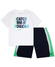 Nike 2-Pc. Catch Me If You Can T-Shirt & Shorts Set, Baby Boys (0-24 months)