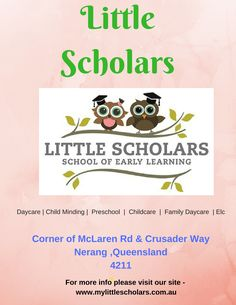 Little Scholars School of Early Learning believes in making a difference. Our family owned and operated boutique centres offer quality care at affordable rates, with skilled educators and premium facilities to meet the needs of every Little Scholar. Learning Centers, Early Learning, Kids Daycare, Early Childhood Education, Childcare, Kindergarten, Foundation, Preschool, Meet