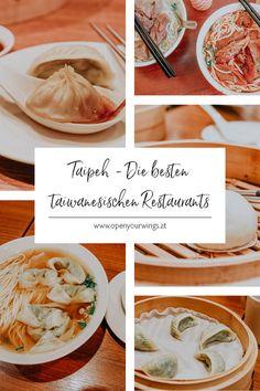 Die besten traditionellen, taiwanesischen Restaurants in Taipeh. Hier findest du die leckersten Beef Noodle Soups, Dumplings und Xiao Long Bao. Tricks, Travel Inspiration, Hotels, Nature, Food, Holiday Travel, Singapore, Inspirational, Asia