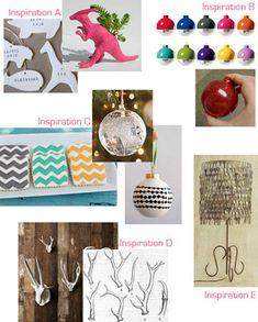 lots of Christmas ornament DIY ideas