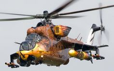 Worlds Fastest Most Heavily Armed Military Helicopter Russian Hind Gunship Mil Attack helicopter The Mil is a large helicopter gunship and attack. Attack Helicopter, Military Helicopter, Military Jets, Military Weapons, Military Aircraft, Bell Helicopter, Mi 24 Hind, Russian Air Force, Aircraft Painting