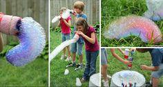 Leto je tu a je čas pripraviť si pre naše detičky aktivity, ktoré ich zabavia. Vytvorte si s nimi originálny bublifuk, ktorý vytvára dlhých farebných hadíkov.