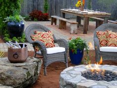 See how DIY Network experts include fireplaces and fire pits in their outdoor space designs. Browse the photo gallery on DIYNetwork.com.
