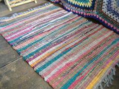 Multi-Coloured Rag Rug