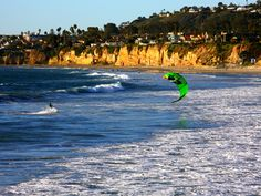 Kite surfing, San Diego, Caifornia. Pinned by www.CaliforniasHarvest.com
