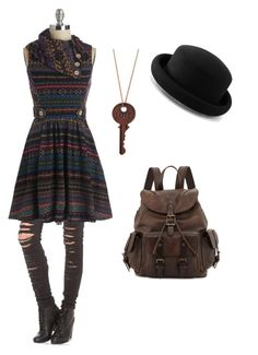 """""""Edgy Hipster"""" by thatpaytongirl ❤ liked on Polyvore featuring Blank Denim, Frye, Warehouse and plus size dresses"""