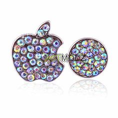 Crystal Bling Deco Home Button Logo Decal Stickers For iPhone 5 5S 4S Touch Ipod