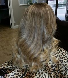 Cool tones filter free balayage ombre blonde natural look by Jessi
