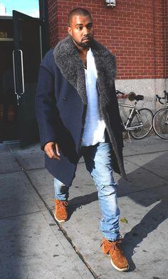 the coat men style tumblr kanye west