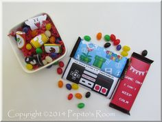 PrintINK Super Mario Bros. A La Carte Candy Bar by PepitosRoom