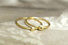 Katja Gold dawanda Ringe mit Diamant