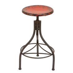 red topped metal bar stool - kitchen?? $95