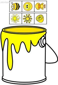 pot in color ! Preschool Color Activities, Preschool Centers, Toddler Learning Activities, Preschool Activities, Activities For Kids, File Folder Activities, Teaching Colors, Kids Education, Color Themes