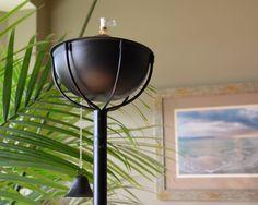 Maui Grande Midnight Black Tiki Torch
