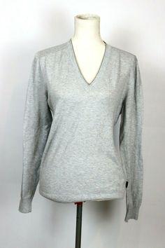 Hugo Boss Grey V Neck Mens Sweater Slim fit L Virgin Wool Cotton Lightweight Men Hugo Boss, Online Price, Men Sweater, Tunic Tops, V Neck, Slim, Wool, Best Deals, Grey