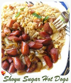 Here's is an easy local style recipe for hot dogs. A little sugar, shoyu and onions for a quick dinner. Serve with hot fried rice.