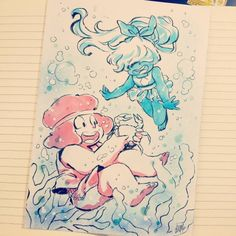"— ""Ruby e Sapphire na praia"" xD premio do. Perla Steven Universe, Copic, Steven Univese, Universe Art, Lapidot, Anime, Disney Cartoons, Cute Art, A Team"